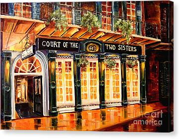 Court Of The Two Sisters Canvas Print by Diane Millsap