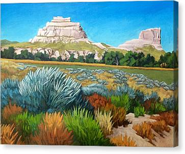 Courthouse And Jail Rocks 2 Canvas Print