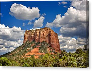 Oak Creek Canvas Print - Courthouse Butte by Louise Heusinkveld