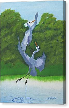Courtship Dance Canvas Print by Mike Robles