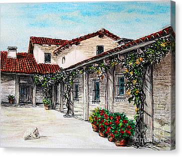 Courtyard Canvas Print