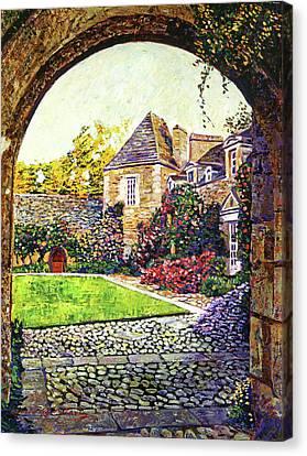 Courtyard Impressions Provence Canvas Print by David Lloyd Glover
