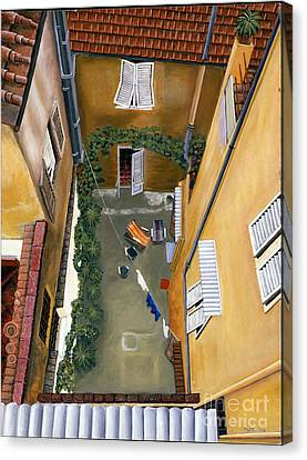 Courtyard In Milan Canvas Print
