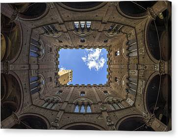 Courtyard Of The Podesta Canvas Print by Michele Chiroli
