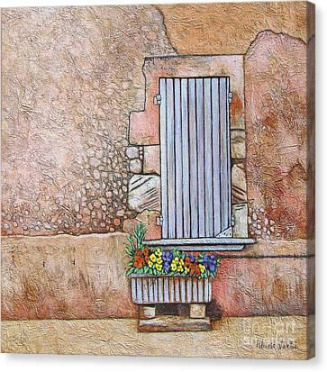 Courtyard Canvas Print by Pamela Iris Harden
