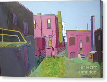 Courtyard View Canvas Print by Debra Bretton Robinson