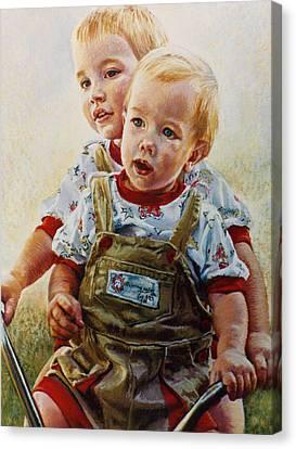 Cousins Canvas Print by Jean Hildebrant