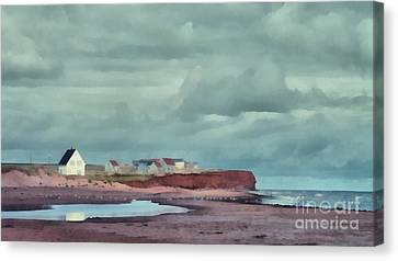 Cousins Shore Prince Edward Island Landscape Canvas Print by Edward Fielding