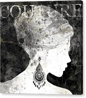 Couture Silhouette Canvas Print