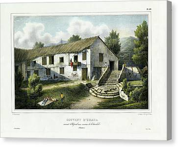 Couvent D Umata Convent In Umatic Canvas Print