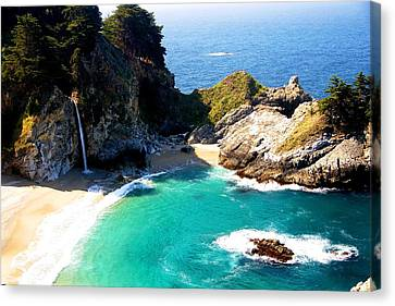 Cove And Mcway Falls Canvas Print