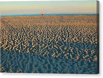 Cove Beach End Of Day Canvas Print