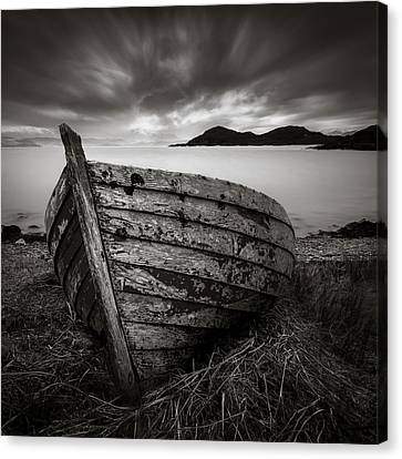 Cove Boat Canvas Print by Dave Bowman