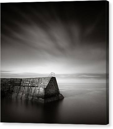 Cove Breakwater Canvas Print by Dave Bowman
