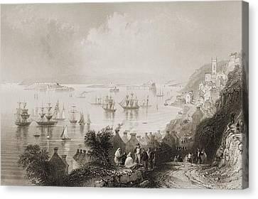 Cork Canvas Print - Cove Harbour, County Cork, Ireland by Vintage Design Pics