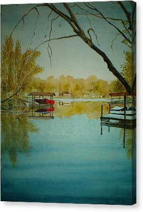 Lake Wylie Canvas Print - Cove In Early Spring by Shirley Braithwaite Hunt