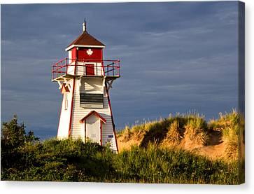 Covehead Lighthouse Canvas Print by Carolyn Derstine