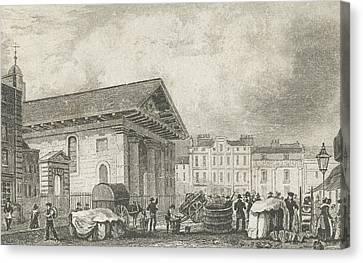 Covent Garden Canvas Print by Thomas Hosmer Shepherd