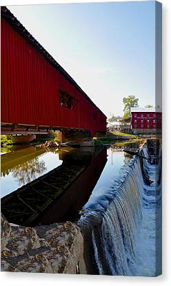 Covered Bridge Festival Canvas Print by Brittany H