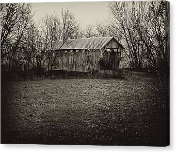 Covered Bridge In Upstate New York Canvas Print by Bill Cannon