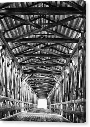 Covered Bridge Interior Knights Ferry Ca Canvas Print