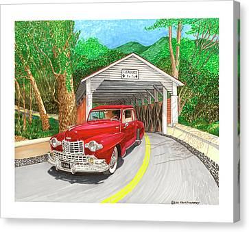 Covered Bridge Lincoln Canvas Print by Jack Pumphrey