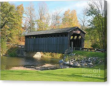 Covered Bridge Canvas Print by Robert Pearson