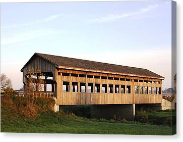 Covered Bridge To Rockwood Canvas Print by Bruce Bley