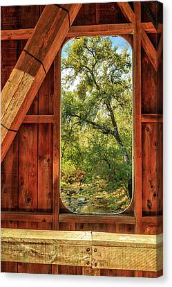 Canvas Print featuring the photograph Covered Bridge Window by James Eddy
