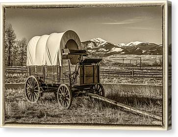 Covered Wagon Canvas Print by Paul Freidlund