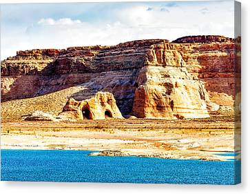 Coves On Shore Of Lake Powell Canvas Print by Susan Schmitz