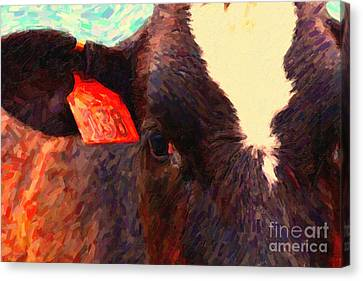 Cow Canvas Print - Cow 138 Reinterpreted by Wingsdomain Art and Photography