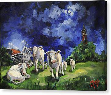 Cow College Auburn University Canvas Print by Carole Foret