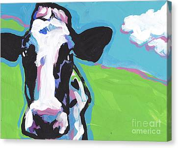 Cow Cow Canvas Print by Lea S