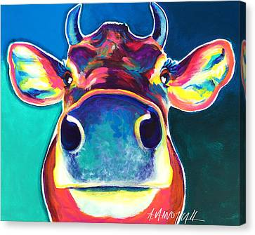 Cow - Fawn Canvas Print by Alicia VanNoy Call