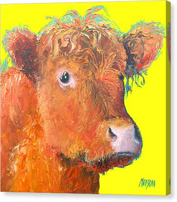 Cow Painting - Highland  Canvas Print by Jan Matson