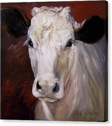 Cow Painting Of Charlene Canvas Print by Cheri Wollenberg