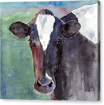 Cow Portrait Canvas Print by Arline Wagner