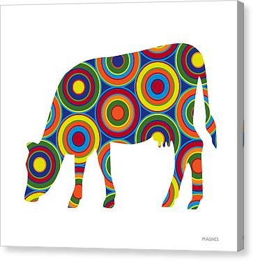 Cow Canvas Print by Ron Magnes