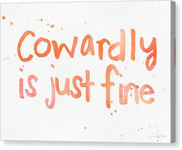 Cowardly Canvas Print by Linda Woods