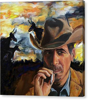 Cowboy 250 1  Canvas Print by Mawra Tahreem
