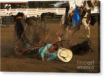 Cowboy Art 8 Canvas Print by Bob Christopher