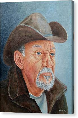 Canvas Print featuring the painting Cowboy Bob by Susan DeLain