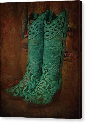 Cowboy Boot Canvas Print by Art Spectrum