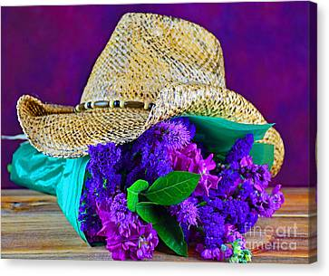 Contemporary Cowgirl Art Canvas Print - Cowboy Bouquet by Ray Shrewsberry