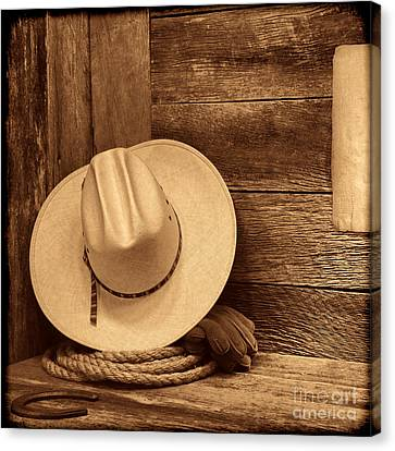 Cowboy Hat In Town Canvas Print