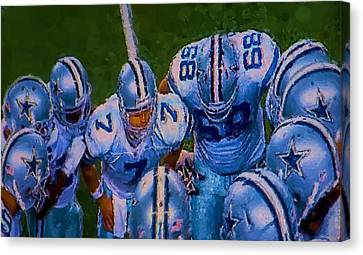 Cowboy Huddle Canvas Print