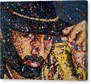 Cowboy Iv Canvas Print by Denise Landis