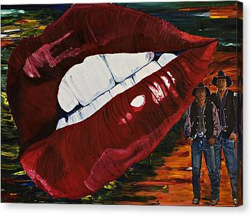 Cowboy Lips Canvas Print by Gregory Allen Page