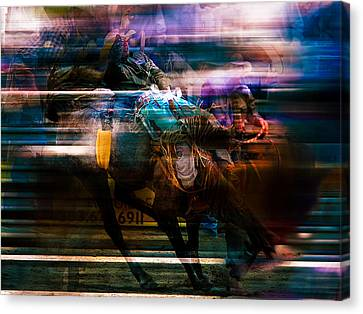Cowboy Canvas Print by Mark Courage